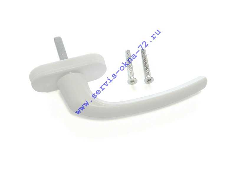 Ручка оконная пластиковая Internika 35 мм, белая Тюмень