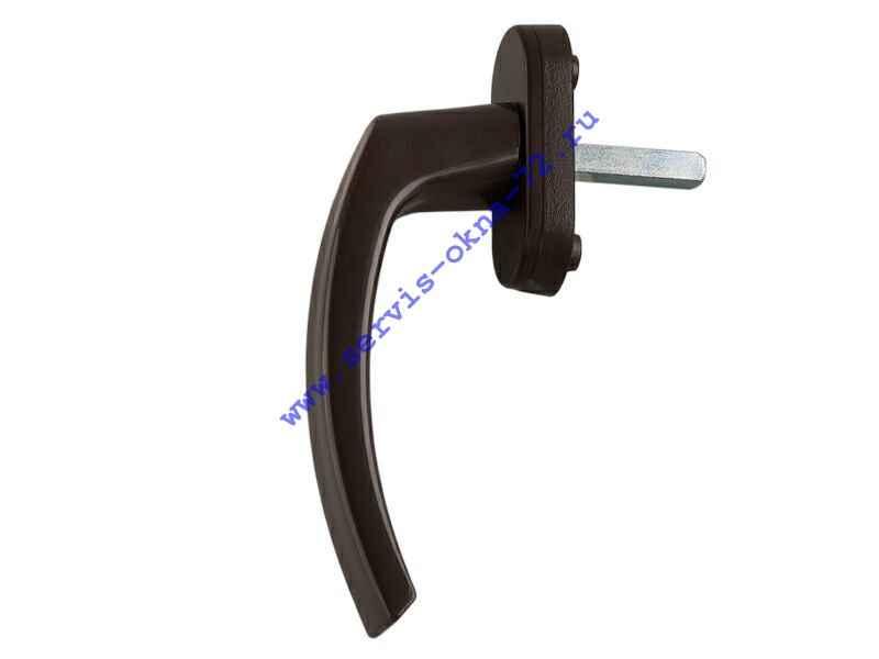 Ручка оконная пластиковая Internika 35 мм, коричневая Тюмень