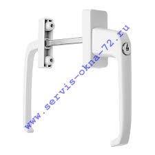 Гарнитур нажимной балконный алюминиевый с ключом (пр-во Польша) белый Тюмень