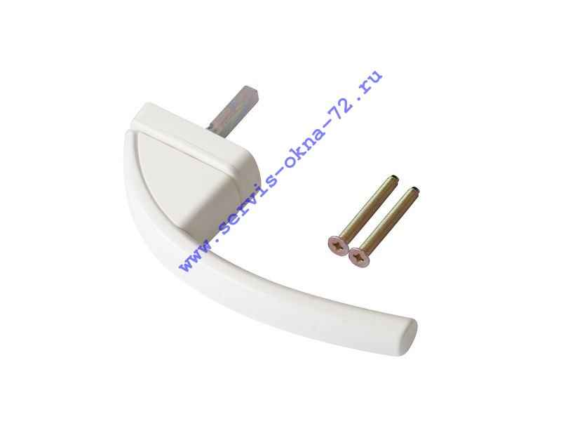 Ручка оконная алюминиевая Roto Swing без логотипа Roto белая Тюмень