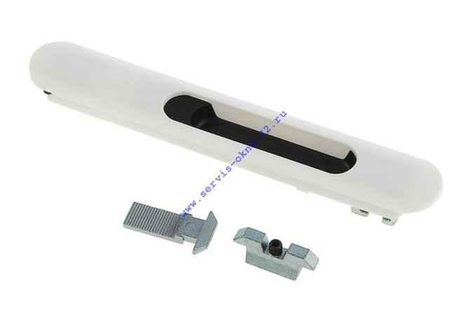 Защелка пластиковый корпус PROVEDAL со скрытым монтажом белая Тюмень